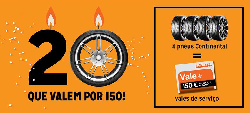 Promoção pneus Continental