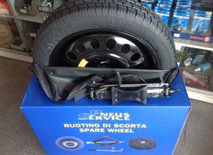Kit pneu suplente - embalagem aberta